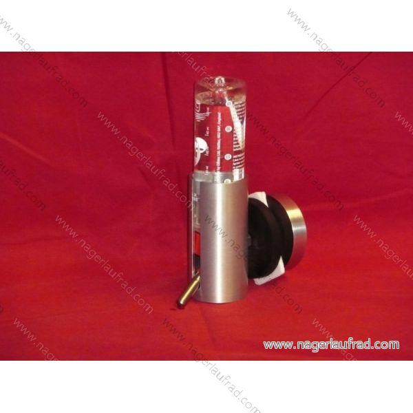 Magnetischer Trinkflaschen Halter WS 150 - 8 mit 150 ml Flasche für ältereTerrarien bis 8 mm Glasstärke.