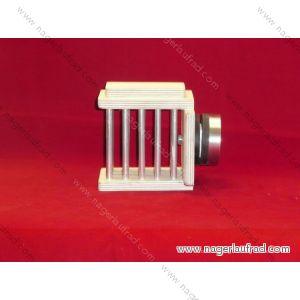 Magnetische Hamster - Heuraufe  Art.Nr.HRM  140150 für Terrarien bis 6 mm Glasstärke