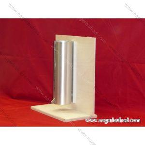 Nagesicherer Aluminium Flaschenhalter für 600 ml Innentränke  für Chinchilla u.Degus  Art.Nr.AFH  600